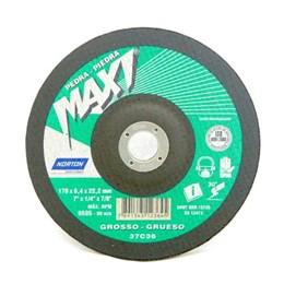 "KIT Disco Desbaste 7"" 6.4mm Pedra BDA670 MAXI Norton 10UN"