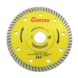 KIT Disco Diamantado 115 Turbo Porcelanato Flex  Cortag 10UN
