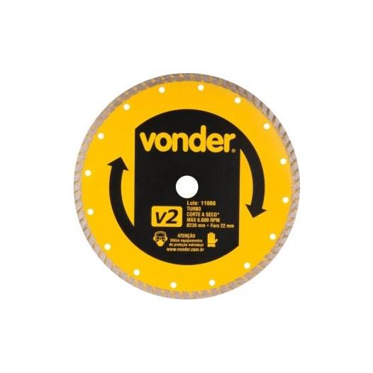 KIT Disco Diamantado 230mm V2 Turbo 12.68.230.000 Vonder 15UN