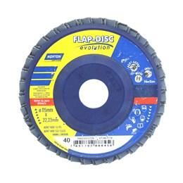 KIT Disco Flap 4.1/2 115 X 22.2  G- 40 Reto Inox Norton 10UN