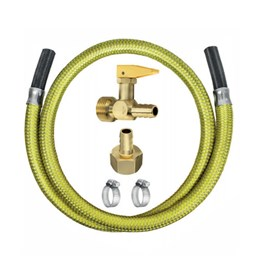 Kit Instalação Fogão com Válvula Corta Fogo Flexível  1,25M [ 2303 ] - ROCO