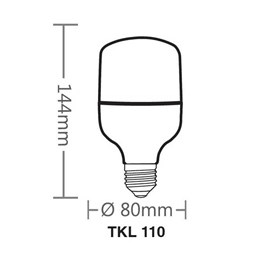 KIT Lâmpada High LED 20W 6500K TKL 110 6UN Taschibra