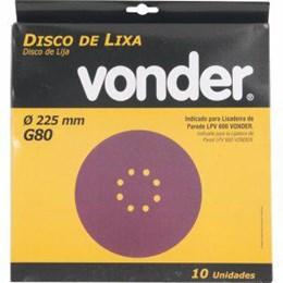 "KIT Lixa Disco Jogo 8"" G 80 Massa 50UN - Vonder"