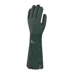 KIT Luva PVC C/Forro Verde Algodão 45CM 20UN Delta Plus