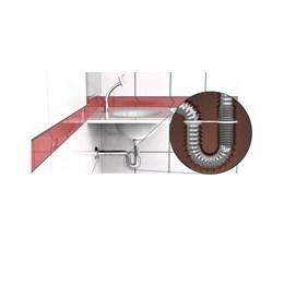 KIT Sifão Sanfonado Universal Metalizado - Blukit 12UN
