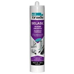 KIT Silicone Vidro/Selasil Incolor 280G 20UN Sil Trade
