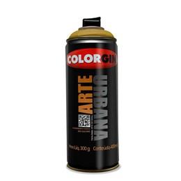 KIT Tinta Spray Arte Urbana Ouro  400ml  - Colorgin 12UN