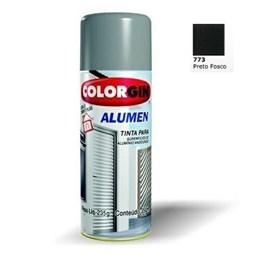 KIT Tinta Spray Preto Fosco p/ Alumínio - Alumen - Colorgin 6UN