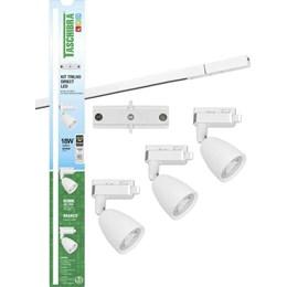 Kit Trilho Elétrico LED com 3 Spots 6W 6500K Branco [ 15090234 ] - Taschibra