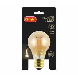 Lâmpada Filamento LED 4W Ambar 2000K A60 [ 180.06.0605 ] (Autovolt) - G-Light
