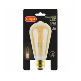 Lâmpada Filamento LED 4W Ambar 2000K ST64 [ 180.06.0609 ] (Autovolt) - G-Light