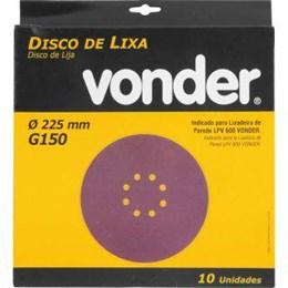"""Lixa Disco Jogo 8"""" G 150 Massa 10Pc [ 1258225150 ] - Vonder"""