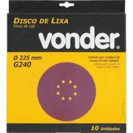 """Lixa Disco Jogo 8"""" G 240 Massa 10Pc [ 1258225240 ] - Vonder"""