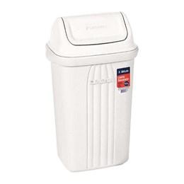 Lixeira Plástica Branca 10L Basculante [ AT2780 ] - Atlas