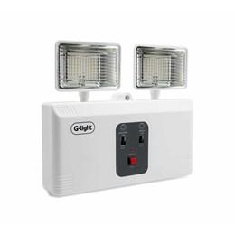 Luminária Emergência Led 2200 Lumens com 2 Faróis [ GL806-LED-20-65-3C ] - G-Light