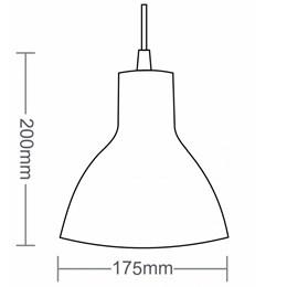 Luminária Pendente Alumínio Vermelho [ TD622 ] - Taschibra