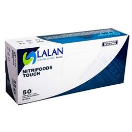 Luva Descartável Nitrilica Azul Tam.G com 50 peças [ 12123090109 ] - Lalan