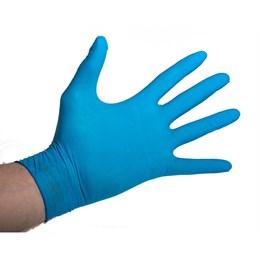 Luva Descartável Nitrilica Azul Tam.M com 50 peças [ 12123090108 ] - Lalan