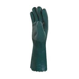 Luva PVC com Forro Verde Algodão Aspera 45CM [ PVCGRIP45VE09 ] - Delta Plus