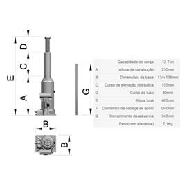 Macaco Garrafa     12 Toneladas [ CJ 12 ] - Bovenau