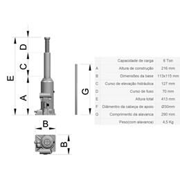 Macaco Garrafa      6 Toneladas  [ CJ 6 ] - Bovenau