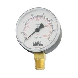 """Manômetro Vertical de 200 Libras 1/4"""" [ LUB-36A ] - Lubefer"""