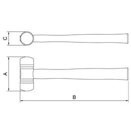 Martelo Borda Plástica 40mm [ 40670/041 ] - Tramontina
