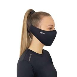 Máscara Semifacial Sport com Proteção UV 50+ Preta [ 372 ] - VITHO PROTECTION