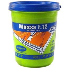 Massa para Madeira Mogno F 12        400 gr [ 2337 ] - Viapol