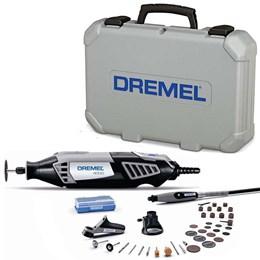 Micro Retífica Elétrica 4000 36 pçs Kit 3 Acoplamento Dremel
