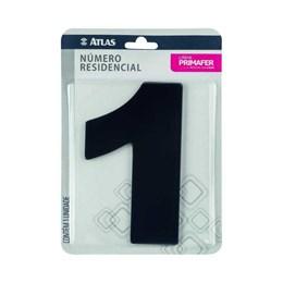 Número Redidência Alumínio Preto  N 1 [ PR3000/1 ]- Primafer
