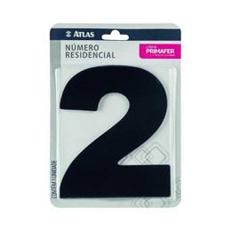 Número Redidência Alumínio Preto  N 2 [ PR3000/2 ]- Primafer