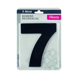 Número Redidência Alumínio Preto  N 7 [ PR3000/7 ]- Primafer