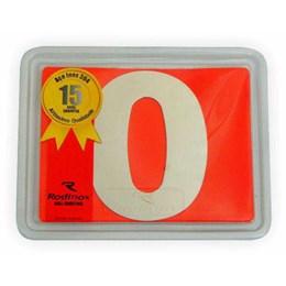Número Residência Inox 100 mm N 0 [ 1055 ] - Rodinox