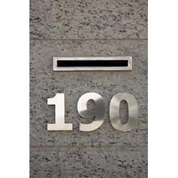 Número Residência Inox 150 mm N 2 [ 1047 ] - Rodinox