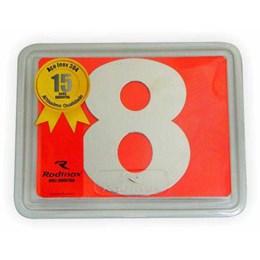 Número Residência Inox 150 mm N 8 [ 1053 ] - Rodinox