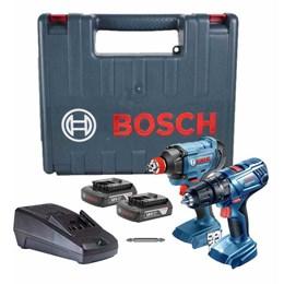 Parafusadeira 18V Kit 2 Pç Impacto GSB180LI+GDX180LI Bosch