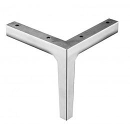 Pé Alumínio Polido Cantoneira Quadrado 125mm [ AL-360.00 ] - Inna