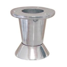 Pé Alumínio Polido Mini 60 mm 11Mini [ 11MIMI/60MM P ] - Alvorada
