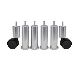 Pé Alumínio Polido p/Cama Box (Kit 6 Pcs) [ KIT-2702 P ] - Alvorada
