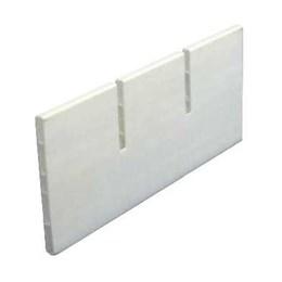 Perfil Divisor de Gaveta  c/ Encaixes 78mm Branco  94.8cm [ 78MM BRANCO CNL ] - Akeo