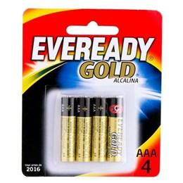 Pilha Palito  AAA  Alcalina  Sm  4 Pc [ 82362 ] - Eveready