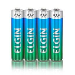 Pilha Pequena AAA Alcalina Elgin SM 4 Peças [ 000000082155 ] - Elgin