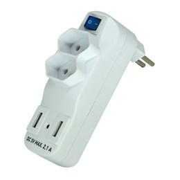 Pino Elétrico T 10A 2P+T+Carregador USB [ SL6017X ] (Bivolt) - Exatron