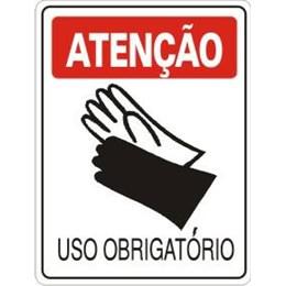 Placa Sinalização 20X30 Pvc Uso Luvas S-206 [ 170 ] - Acesso