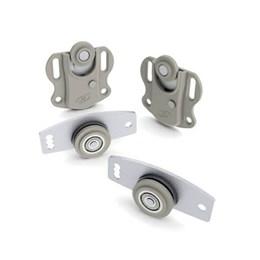 Porta Correr Kit Ro 212210 Madeira/Alumínio [ RO212210 ] - Rometal