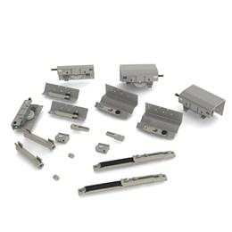 Porta Correr Kit Ss-200 3 Portas Stand Mad./Alumínio [ SS200/3/STAND ] - Rometal