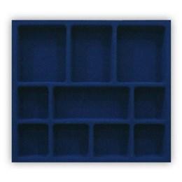 Porta Jóia Plástica/o 10 Div. Azul Aveludado 410X365 [ PJ-02 ] - Mold Plast