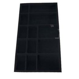 Porta Jóia Plástica/o Azul Aveludado 663X365 [ PJ-01 ] - Mold Plast