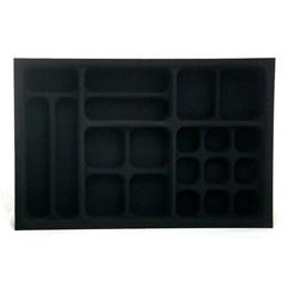Porta Jóia Plástica/o Preto Aveludado 306X464 [ PJ-12 ] - Mold Plast